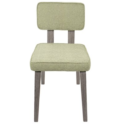 Mccullar Upholstered Dining Chair Upholstery Color: Light Green