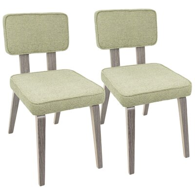 Mccullar Mid-Century Modern Upholstered Dining Chair Upholstery Color: Light Green