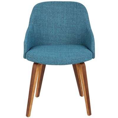 Brighton Mid-Century Modern Upholstered Dining Chair Upholstery Color: Teal