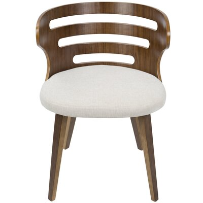 Baehr Mid-Century Modern Upholstered Dining Chair Upholstery Color: Cream