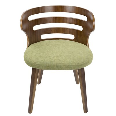Baehr Mid-Century Modern Upholstered Dining Chair Upholstery Color: Green