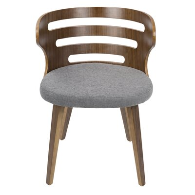 Baehr Mid-Century Modern Upholstered Dining Chair Upholstery Color: Gray
