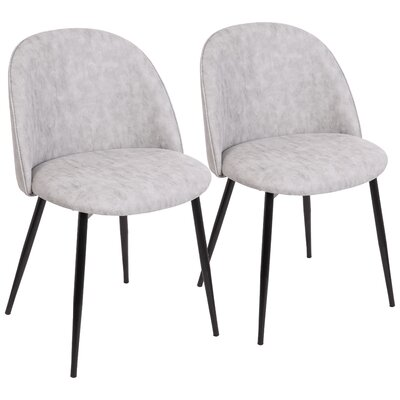 Elvira Contemporary Upholstered Dining Chair Upholstery Color: Black