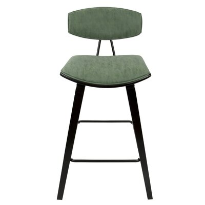 Artrip Mid-Century 27 Bar Stool Upholstery Color: Green