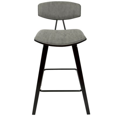 Artrip Mid-Century 27 Bar Stool Upholstery Color: Gray