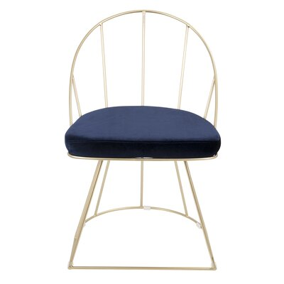 Lystra Upholstered Dining Chair Upholstery Color: Blue