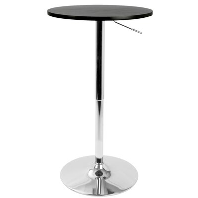 Coveney Adjustable Pub Table Finish: Black