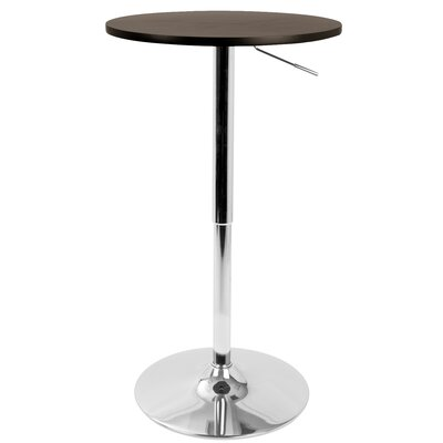 Coveney Adjustable Pub Table Color: Brown