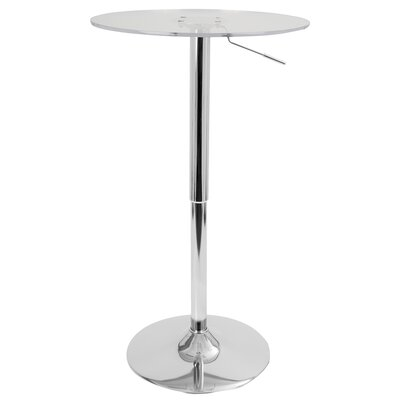 Coveney Adjustable Pub Table Finish: Clear