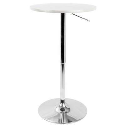 Coveney Adjustable Pub Table Color: White