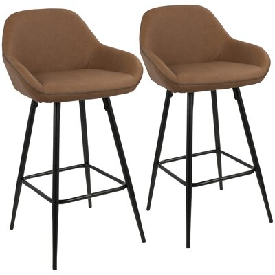 Rylee 26 Bar Stool Upholstery: Brown