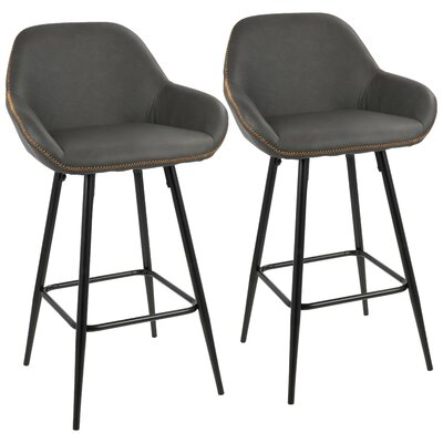 Rylee 26 Bar Stool Upholstery: Gray