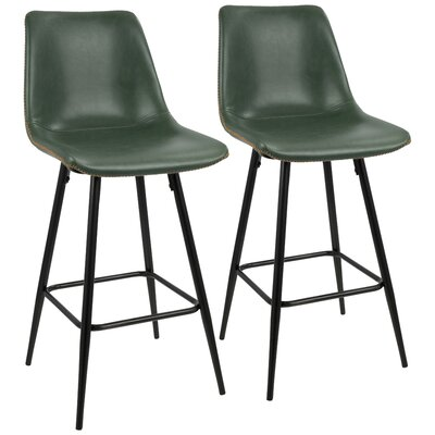 Rylee 25 Bar Stool Upholstery: Green