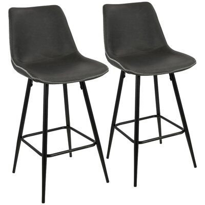 Rylee 25 Bar Stool Upholstery: Gray