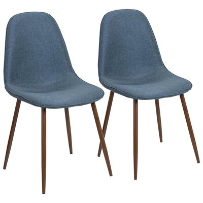 Birdsall Mid-Century Modern Upholstered Dining Chair Upholstery Color: Blue