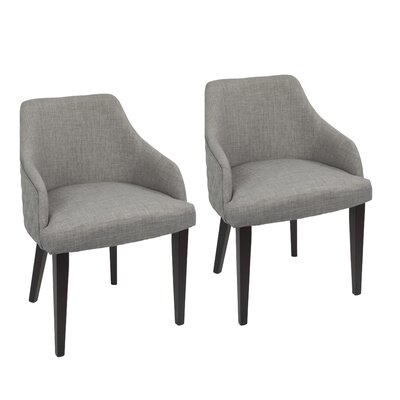 Brinker Upholstered Dining Chair Upholstery Color: Gray
