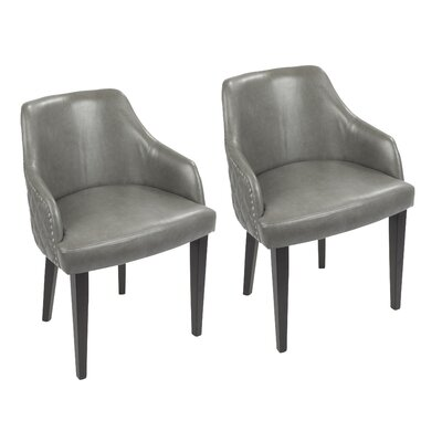 Millar Upholstered Dining Chair Upholstery Color: Gray