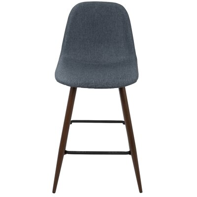 Weissman 24 Bar Stool Upholstery: Blue