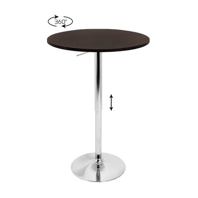 Easy financing Adjustable Bar Table with Brown Top...