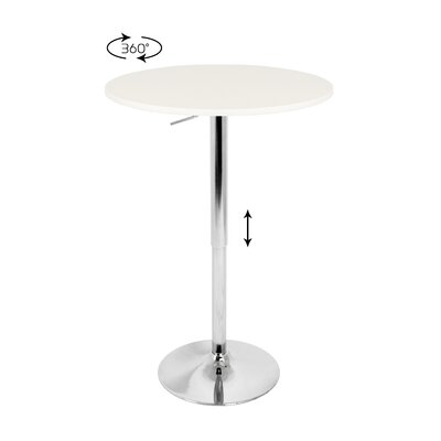 Rent to own Adjustable Bar Table with White Top...
