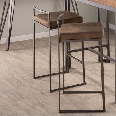 Gary 31 Bar Stool Upholstery: Brown