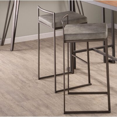 Gary 31 Bar Stool Upholstery: Light Gray