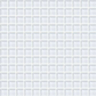 Color Wave 1 x 1 Porcelain Mosaic Field Tile in Ice White