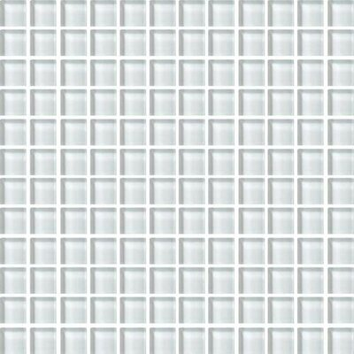 Color Wave 1 x 1 Glass Mosaic Field Tile in Feather White