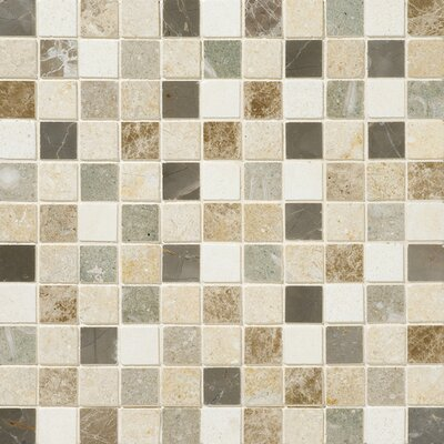 Benson 1 x 1 Natural Stone Mosaic Accent Tile in Brenta Blend