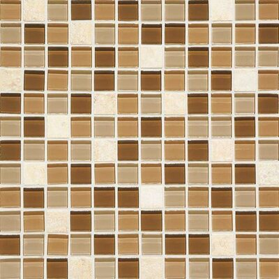 Gibson 0.63 x 3 Natural Stone and Glass Mosaic Tile in Caramelo