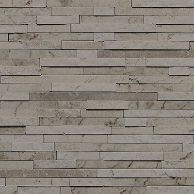 Marble Collection 3/8 x Random Sized Natural Stone Field Tile in Silver Screen
