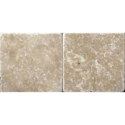 Travertine Collection 6 x 3 Natural Stone Field Tile in Light Noce