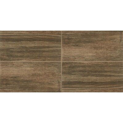 Bay Bridge 24 x 24 Porcelain Wood Look/Field Tile in Brown