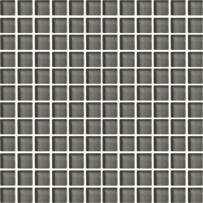 Color Wave 1 x 1 Glass Mosaic Field Tile in Kinetic Khaki