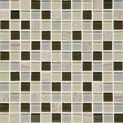 Mosaic Traditions 1 x 1 Natural Stone and Glass MosaicTile in Evening Sky