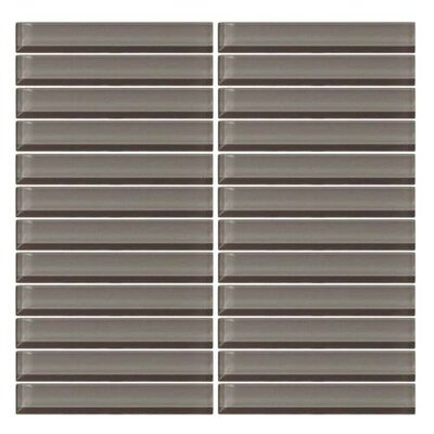 Color Wave Straight-Joint 6 x 1 Mosaic Field Tile in Kinetic Khaki