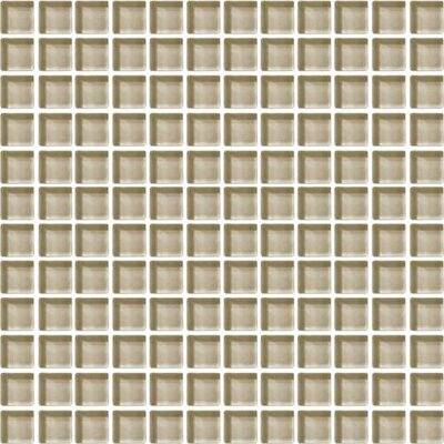 Color Wave 12 x 12 Mosaic Field Tile in Tango Tan