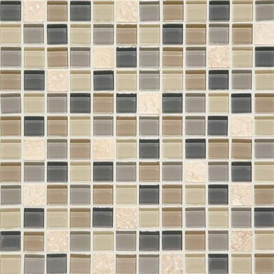 Mosaic Traditions 0.75x 1.5 Natural Stone and Glass Mosaic Tile in Skyline