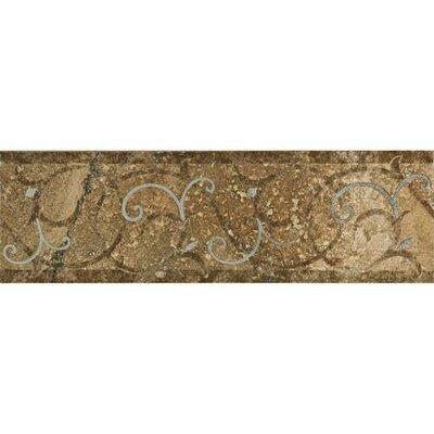 Cortona 13 x 4 Umbrian Hill Decorative Accent Tile in Beige/Brown