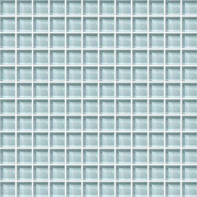 Color Wave 1 x 1 Glass Mosaic Field Tile in Whisper Green