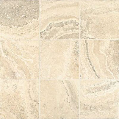 Cortona Flora 13 x 13 Porcelain Field Tile in White