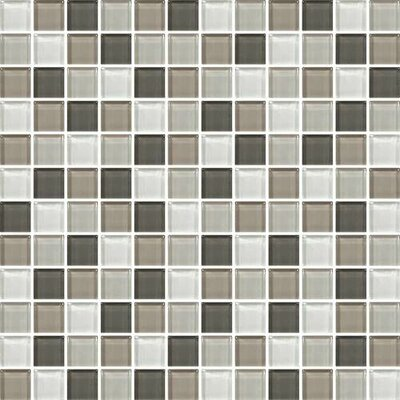 Color Wave 1 x 1 Glass Mosaic Field Tile in Soft Cashmere