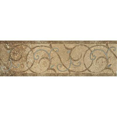 Cortona 13 x 4 Decorative Accent Tile  in Mediterranean Sand