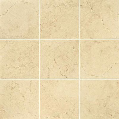 Florentine 12 x 12 Glazed Porcelain Field Tile in Marfil