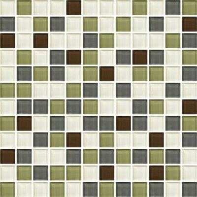 Color Wave 1 x 1 Mosaic Field Tile in Autumn Trail