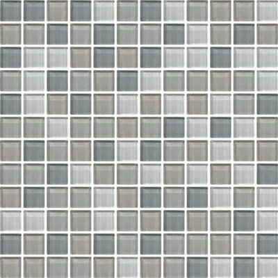 Color Wave 1 x 1 Glass Mosaic Field Tile in Willow Waters