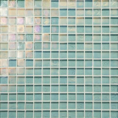 Glass Horizons 0.75 x 0.75 Glass Mosaic Tile in Sky Blue