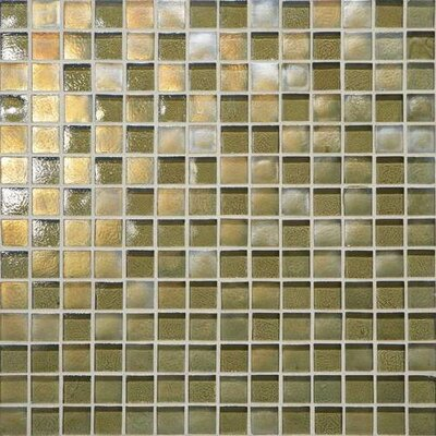 Glass Horizons 3/4 x 3/4 Glass Mosaic Tile in Lagoon