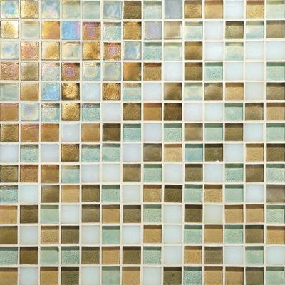 Glass Horizons 0.75 x 0.75 Glass Mosaic Tile in Caribbean Blend