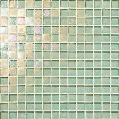 Glass Horizons 0.75 x 0.75 Mosaic Field Tile in Sea Glass